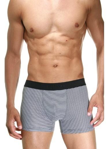 Dark Zone Desenli Pamuklu Erkek Boxer Beyaz